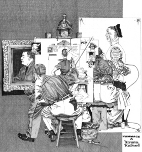 Hommage à Norman Rockwell 70X50